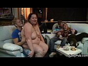 Fat chick strips and gives head in the bar