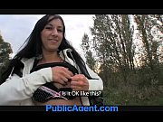publicagent brunette hotty gets laid on.