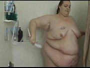 fat babe soaps herself in the.