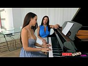 Picture Dillion Harper threesome action with her piano te...