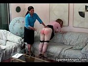 Sexy red head teen babe gets ass spanked