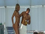 Blond girl makes out with a horny guy