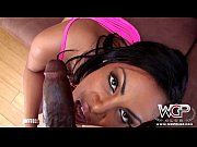 WCPClub Black booty babe takes a BBC and a creampie