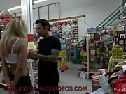 Picture Hot blonde MILF fucked in store