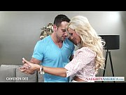 Superb blonde Cameron Dee gives blowjob