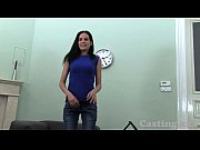 Picture Casting HD Raven hair amateur gets spunk in...