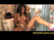 Black girl initiated in the art of gloryhole blowjob 27