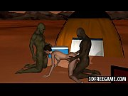 Hot 3D babe gets double teamed by goblins in the desertasy-high_1