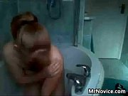 cute redhead masturbates in the bath.