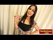 busty thai shemale tgirl plays with.