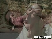 Cute blonde fucked outdoor