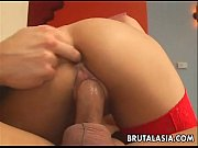 Asian babe Kat gets fucked and analized