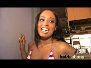 Hot ebony chick in interracial gangbang 2