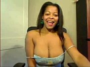 huge boob ebony girl teasing on.