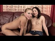 euro lesbian fingered before vibrator on her tight pussy