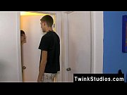 Hot twink scene Timo Garrett is hogging the bathroom with fine