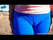 AMAZING BODY TEEN, Showing Off On a Dirty Road! G-String ASS