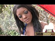 Nasty ebony interracial bukkake 17