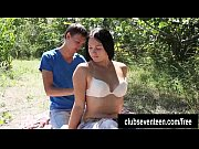 Sexy teen gets fucked outdoors