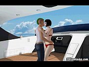 Foxy 3D brunette honey getting fucked on a boat