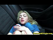 petite hitch hiking blonde teen drilled