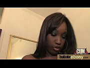 Hot ebony chick in interracial gangbang 6