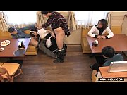 Picture Asian waitress gives felatio to the randy cu...