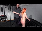 Spanking redhead amateur Tiny in harsh dungeon whipping and sexual domination of