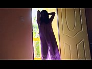 Desi girl dancing in transperent nighty boobs visible in balcony...bouncing boobs