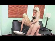 Blonde shemale gets butt fucked hard by a hot tranny