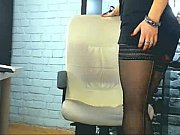 blonde black pantyhose on webcam