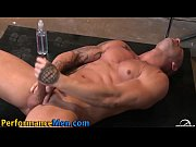 stud rides dildo and cums