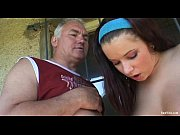 old guy and brunette teen