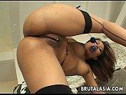 Annie Cruz has her ass stretched with toys.
