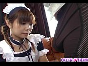 natsumi asian maid in cosplay gives amazing blowjob.