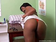 Picture Kinky chubby black babe in doctors office
