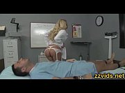 Horny nurse Riley Evans riding dick