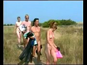 Busty girl blows three cocks at Cap D'Agde beach view on xvideos.com tube online.