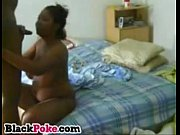 Hot black wife with big tits gives nice blowjob