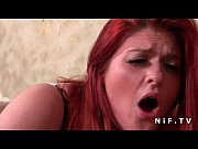 Pretty french redhead plum fucked hard by the taxi driver in a bar