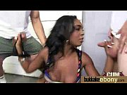 Gorgeous ebony lady sucks white dicks and gangbang fucking 24