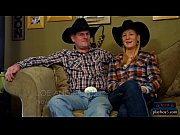 Swinger cowboy couple first time orgy with other couples