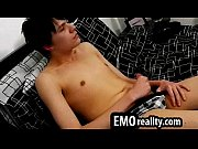 shy sexy emo twink sits naked in his.