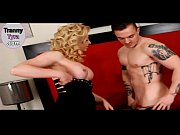 Big boobs tranny Tyra Scott asshole screwed by horny man
