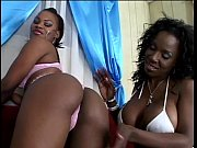 1215800_Big black booty chick with pussy ring gets cunt fingered by lesbo_240p