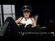 kristyna dark smokes a cigar
