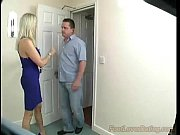 Mature mistress gives great footjob