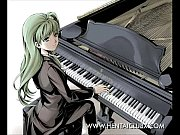 sexy sexy anime girls playing the piano slide show ecchi