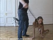 A hot cutie gets her shaved pussy pounded on the bondage stand, russian girl rap Video Screenshot Preview