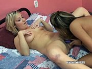Asian Christina fucking a blonde with her dildo